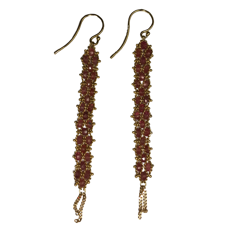 Amali Spinel Woven Drop Earrings