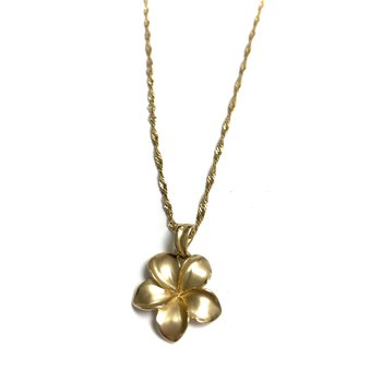 Gold Plumeria Necklace