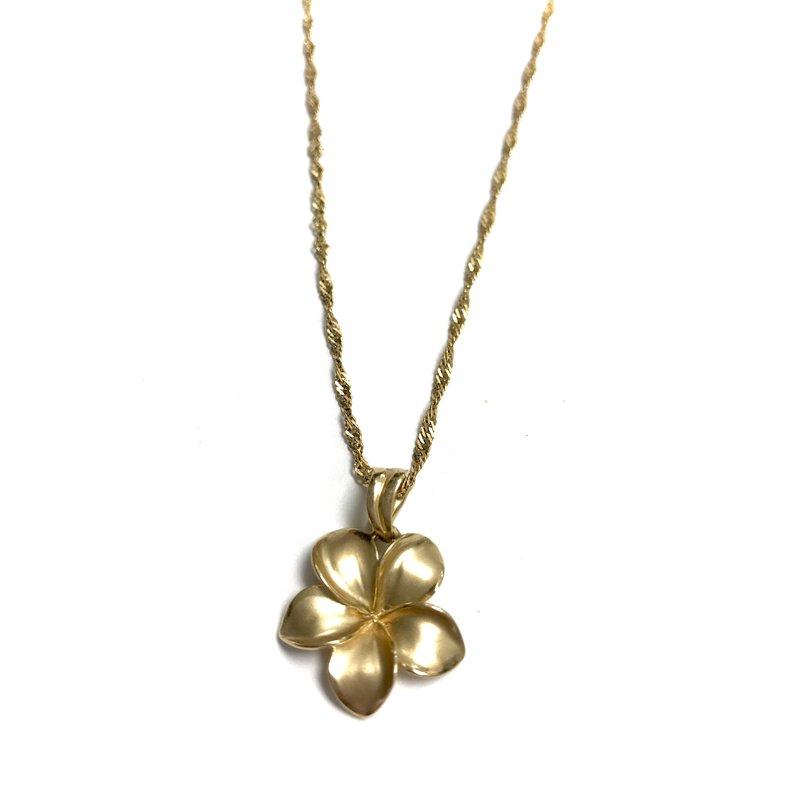 Antique, Estate & Consignment Gold Plumeria Necklace
