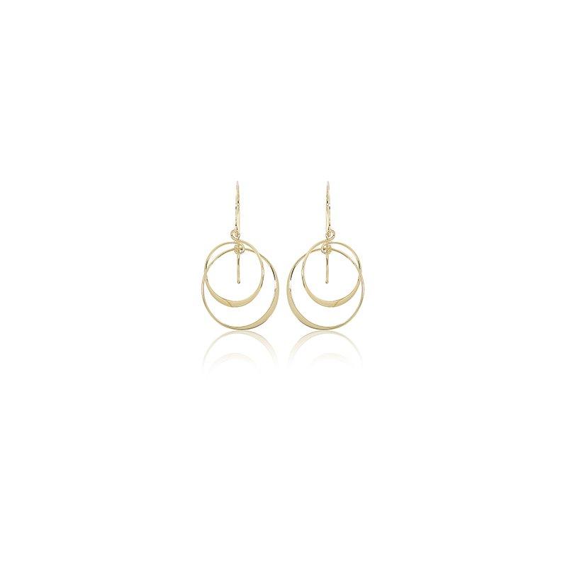 Carla Nancy B Interlocking Circle Earrings
