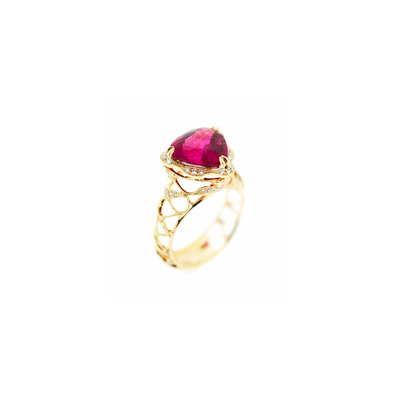 Parade Design Pink Tourmaline Gold Ring