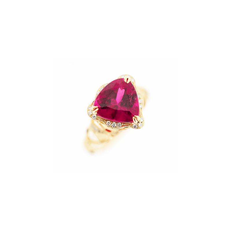 Parade Design Pink Tourmaline Gold Ring