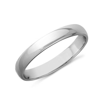 14k White Gold 3mm Band