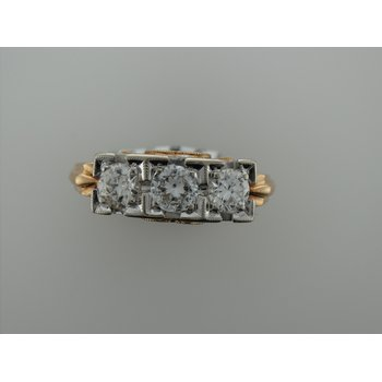 Vintage Diamond Three Stone Ring