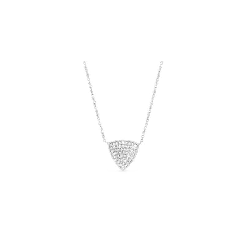 Madison L Pave Triangle Necklace