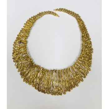 Gold Wired Free Form Necklace