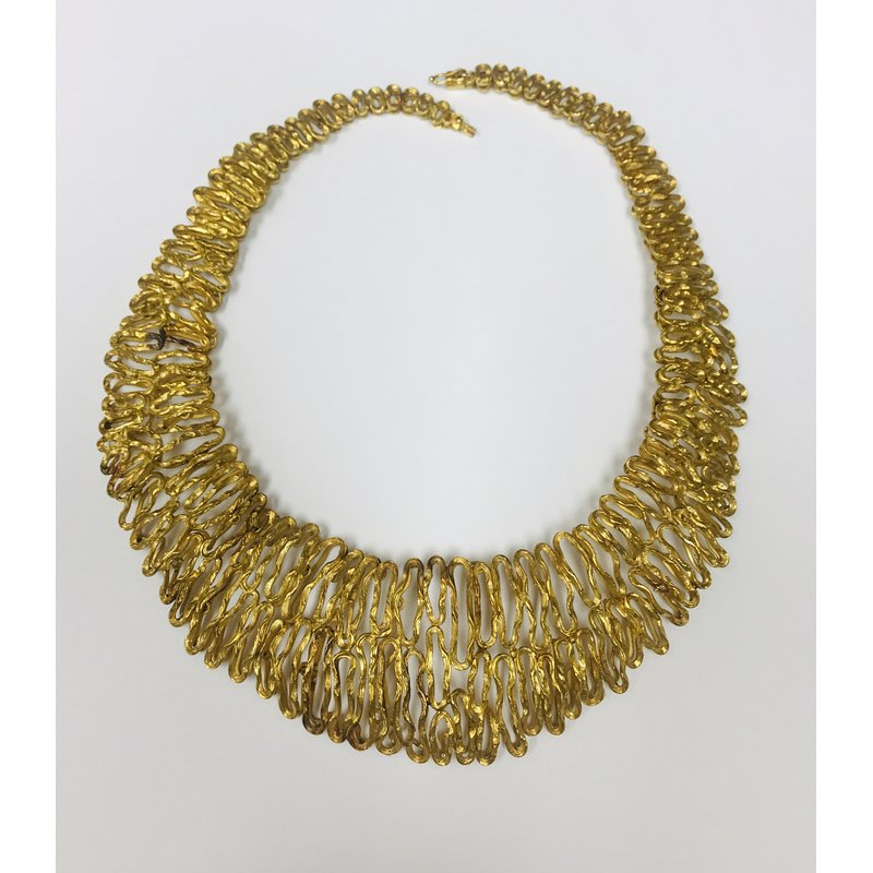 Antique, Estate & Consignment Gold Wired Free Form Necklace