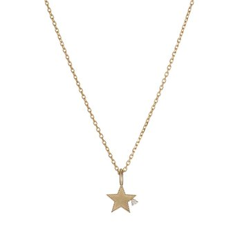 Beaded Diamond Star Necklace