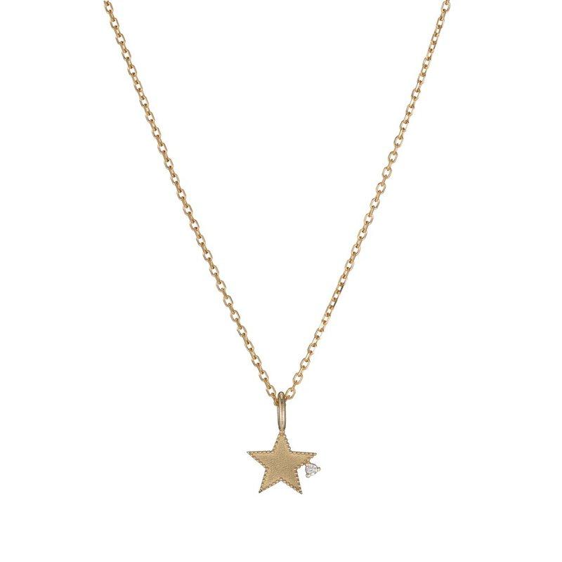 Jennie Kwon Beaded Diamond Star Necklace