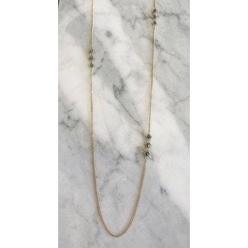 Blue Diamond Triple Textile Station Necklace