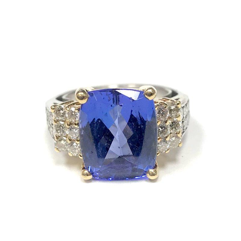 Antique, Estate & Consignment Tanzanite & Diamond Ring