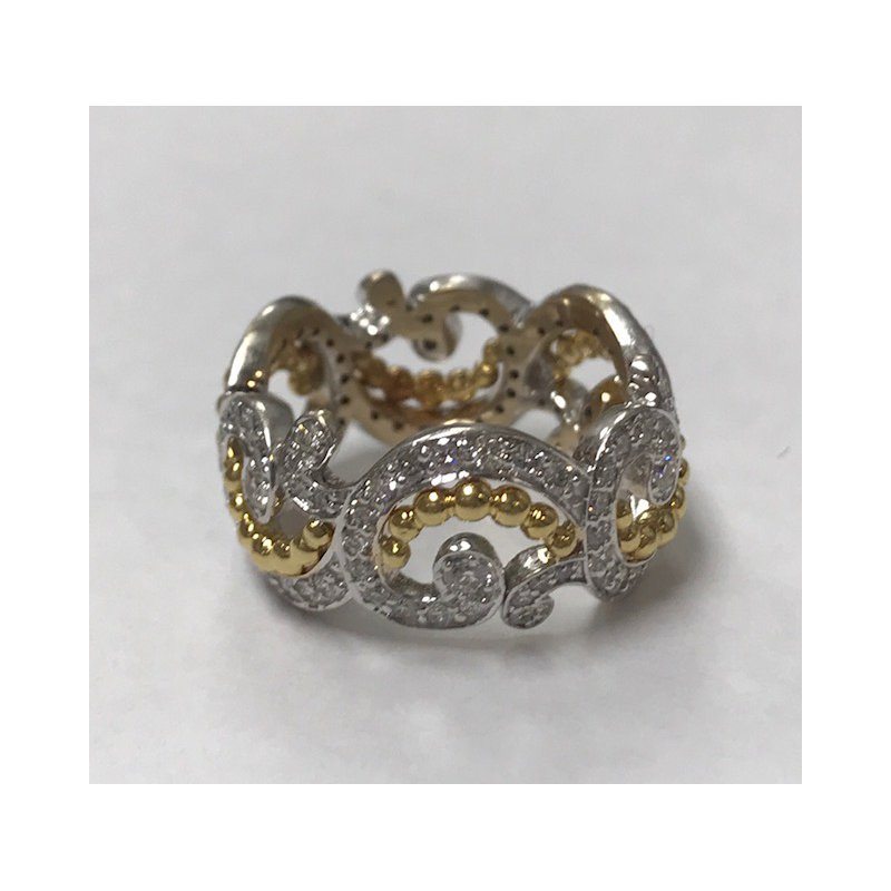 Antique, Estate & Consignment Wide Diamond Swirl Ring