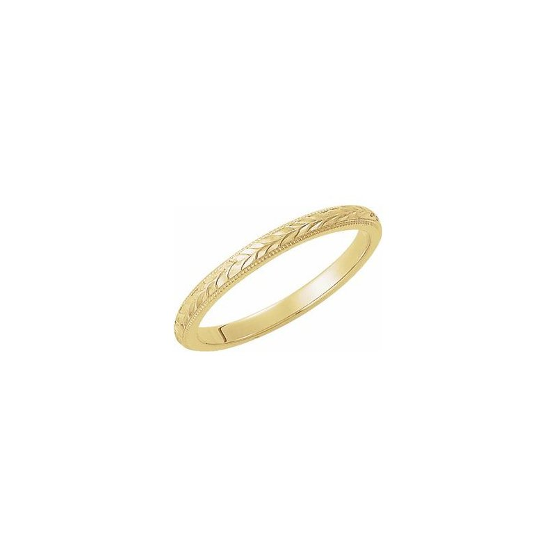 Hurdle's Jewelry Collection Engraved 14k Yellow Gold Wedding Band