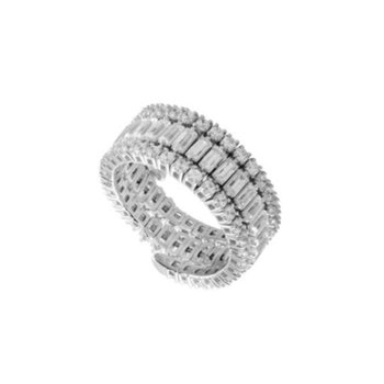 Flexible 3 Row Diamond Ring