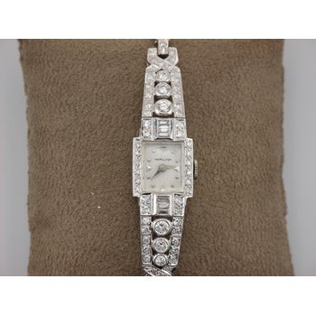 Platinum Diamond Hamilton Watch