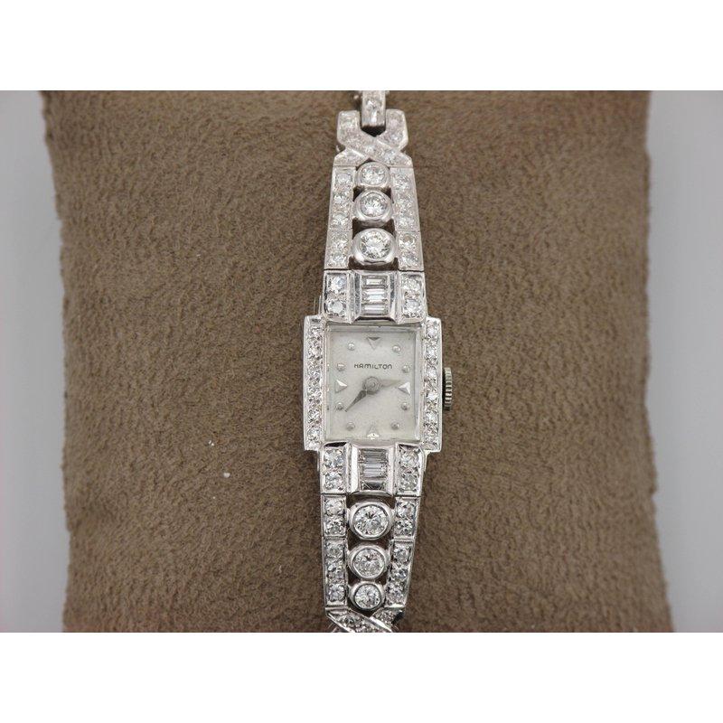 Antique, Estate & Consignment Platinum Diamond Hamilton Watch
