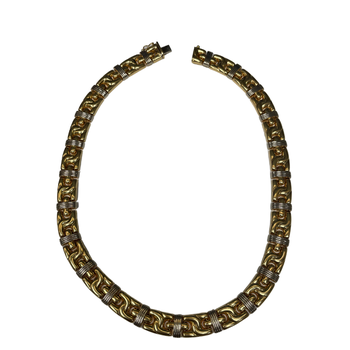 Two Tone Gold Collar Necklace