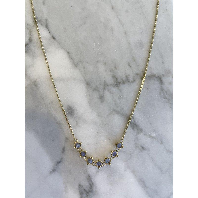 Amali Tanzanite Petite Textile Necklace