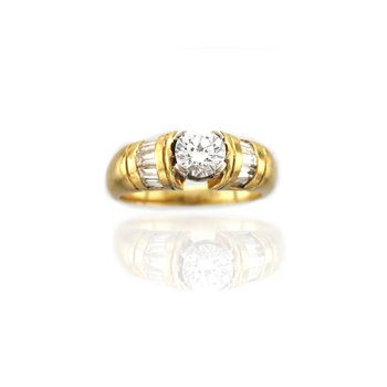 Yellow Gold Diamond Engagement Ring