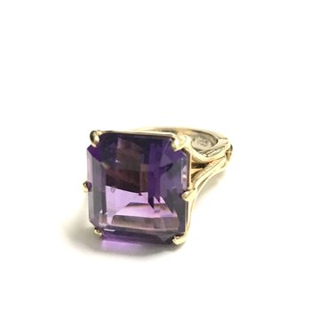 18k Amethyst Cocktail Ring