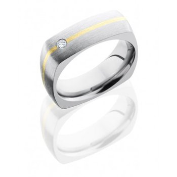 Titanium & Gold Diamond Band
