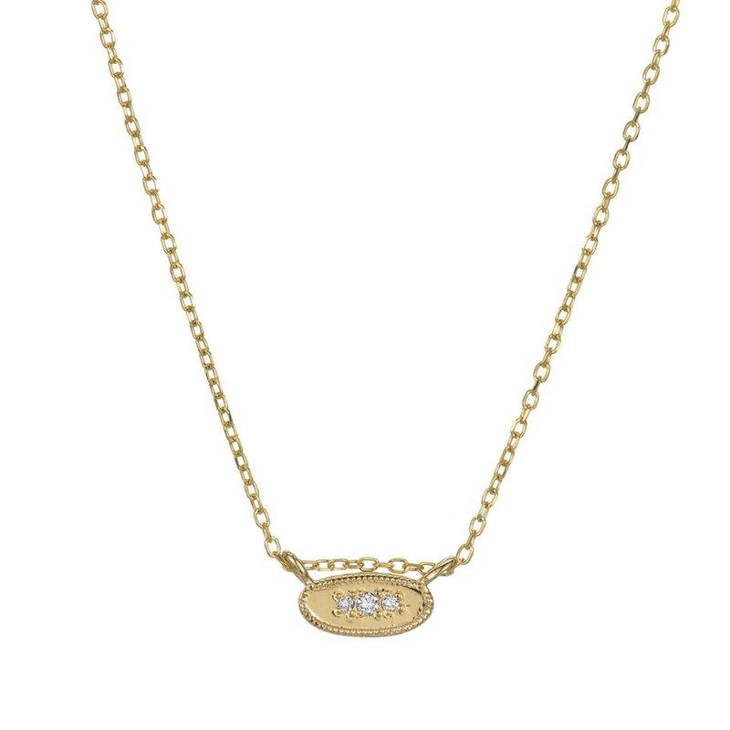 Jennie Kwon Oval Diamond Mirror Necklace