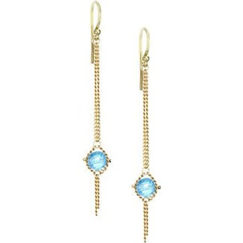 Blue Topaz Chain Link Earrings