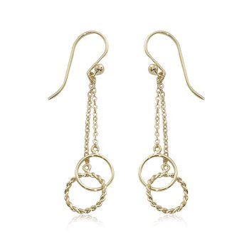 Twist Ring Interlock Earrings