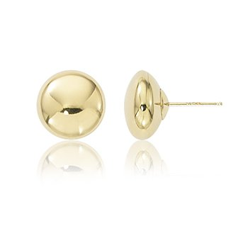 10mm Flat Button Earrings