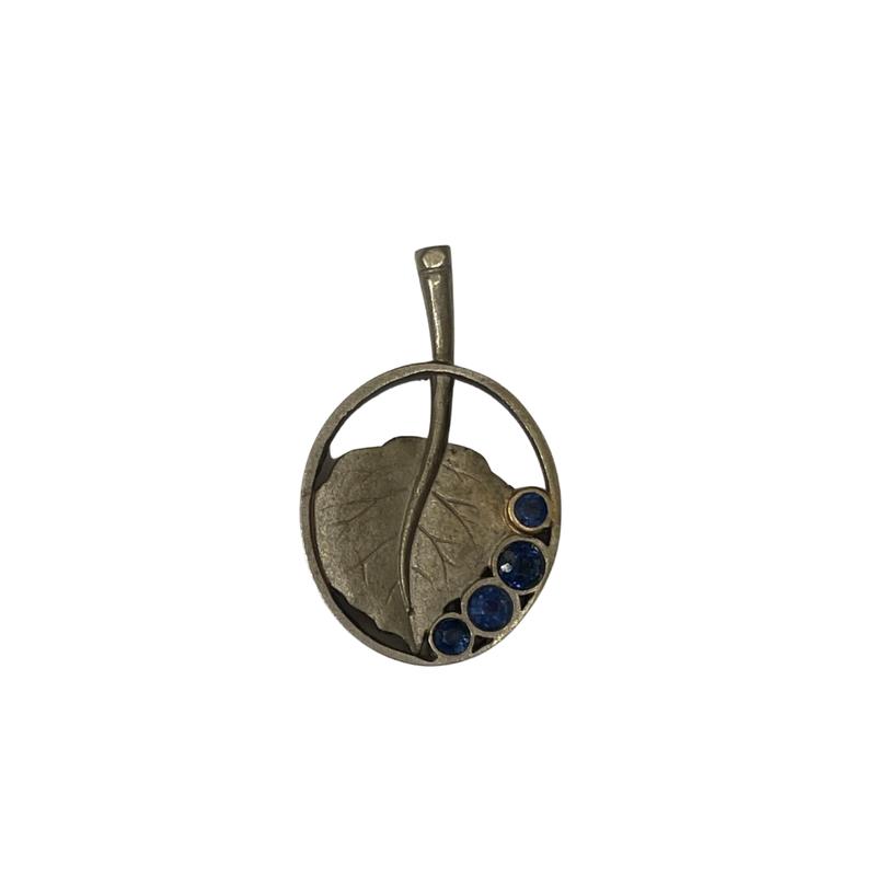 Antique, Estate & Consignment Sapphire Leaf Pendant
