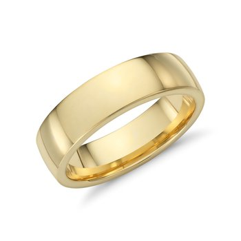 18k Yellow Gold 6mm Band