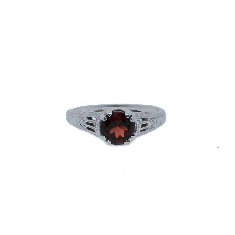 Antique, Estate & Consignment Garnet Filigree Ring