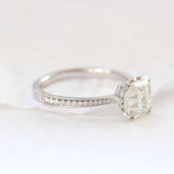 Willa Asscher Cut Diamond Ring