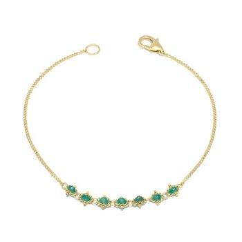 Petite Textile Bracelet in Emerald