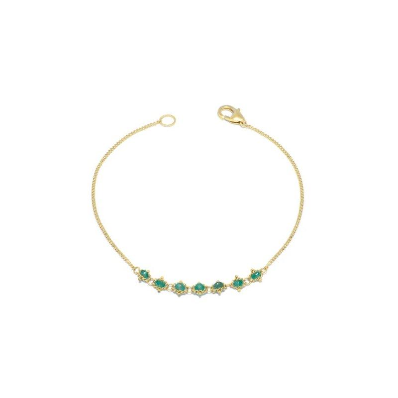 Amali Petite Textile Bracelet in Emerald
