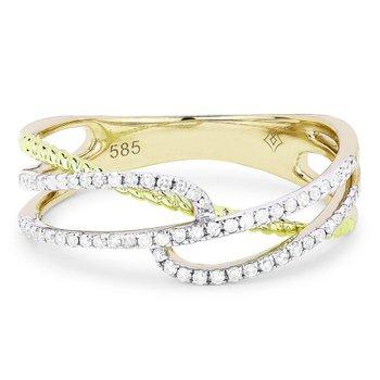 Diamond Twist & Rope Ring