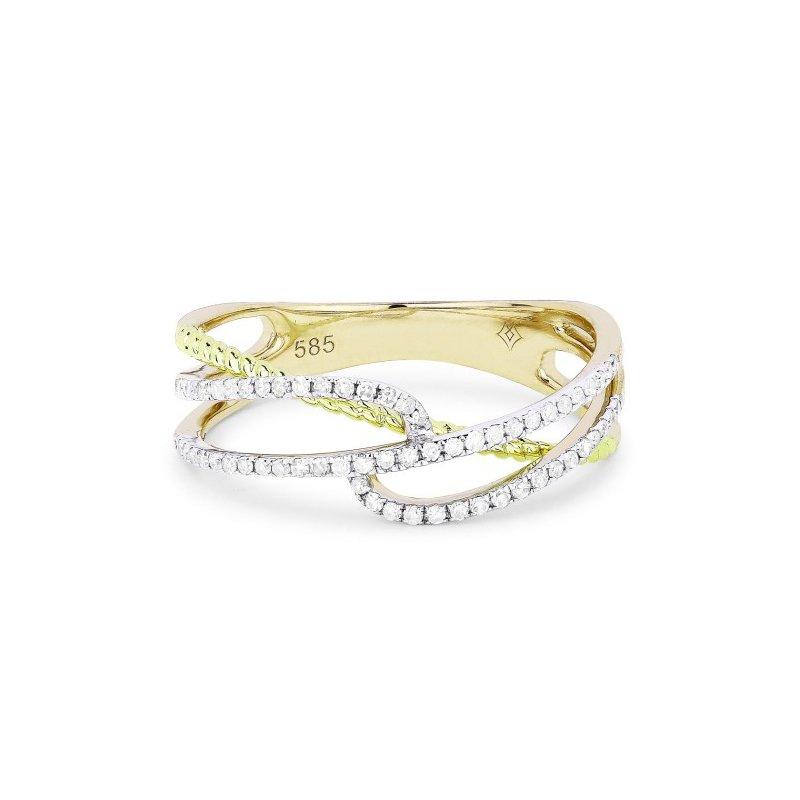 Madison L Diamond Twist & Rope Ring
