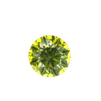 0.51 Carat Round Brilliant Cut Enhanced Fancy Yellow Diamond