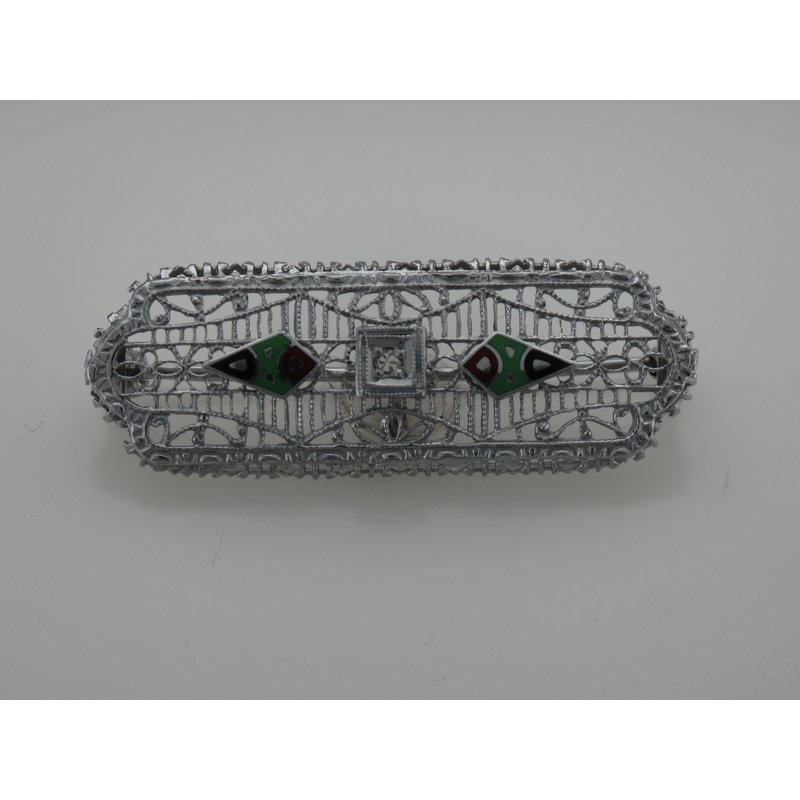 Antique, Estate & Consignment Vintage Enamel & Diamond Pin
