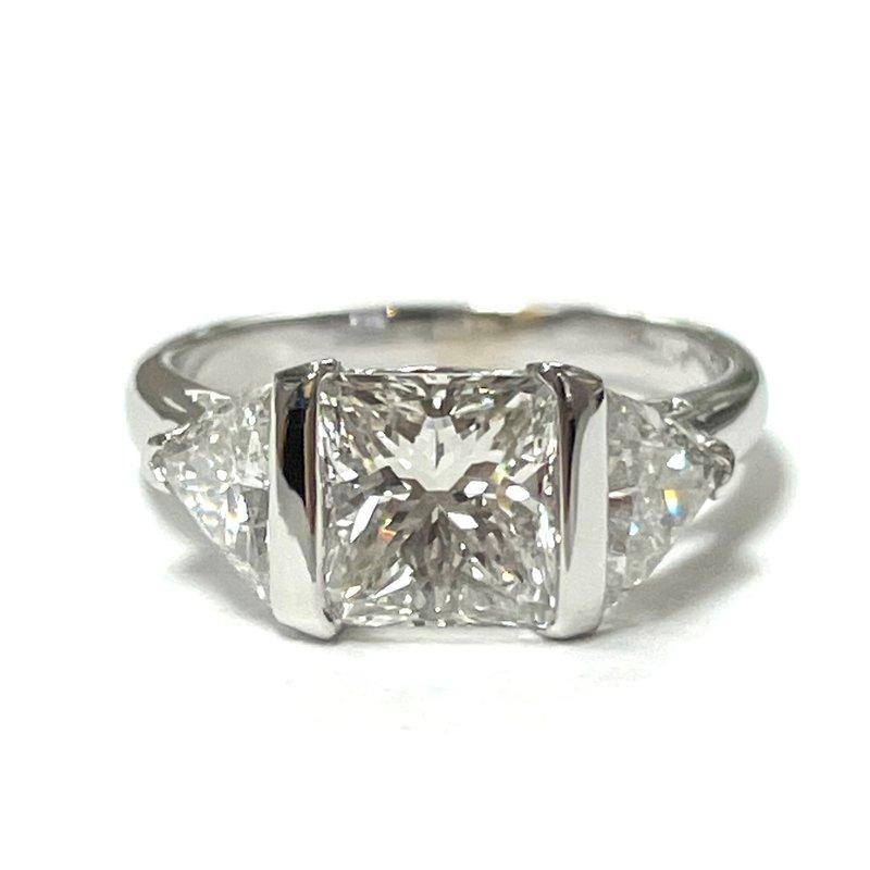 Antique, Estate & Consignment Princess Cut Three Stone Ring