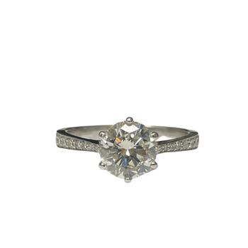 Six Prong Diamond Engagement Ring R2941