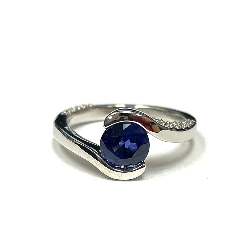 Antique, Estate & Consignment Sapphire & Diamond Bypass Ring