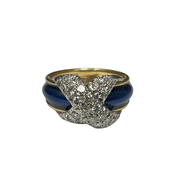 Vintage Tiffany & Co. Schlumberger Enamel Diamond Ring