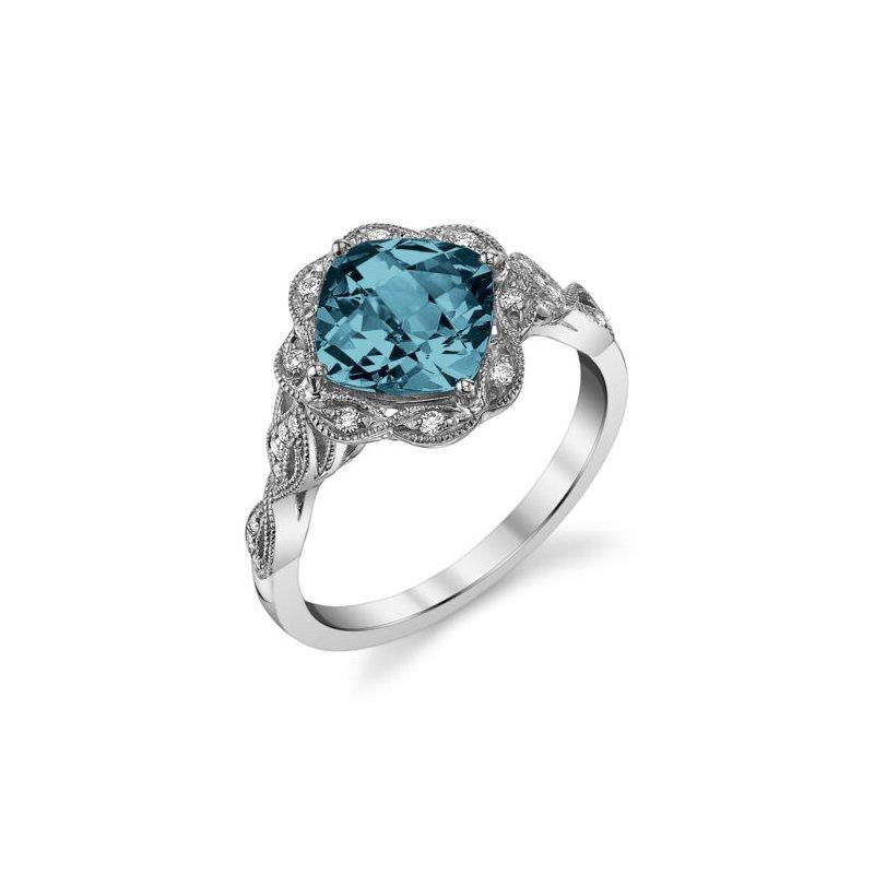 Stanton Color London Blue Topaz & Diamond Ring