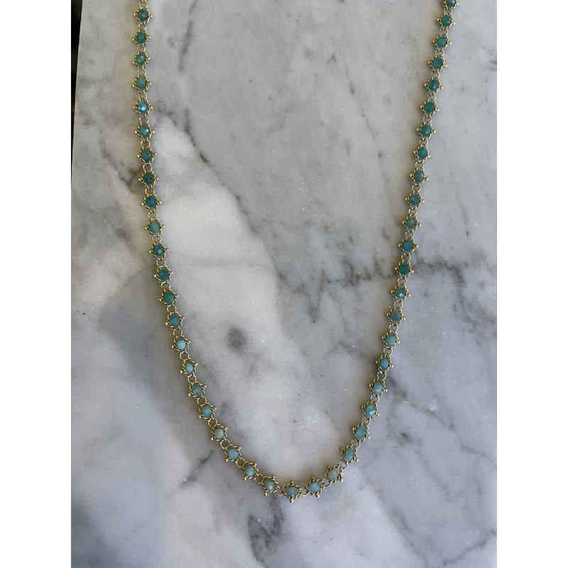 Amali Amazonite Textile Necklace