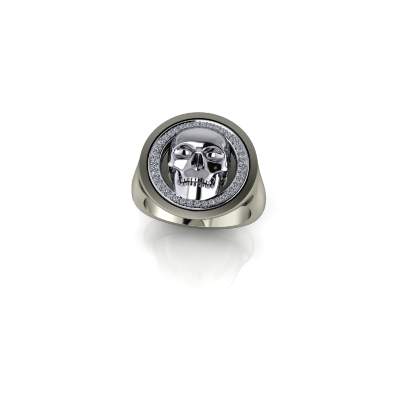 Stardust Custom Skull Ring