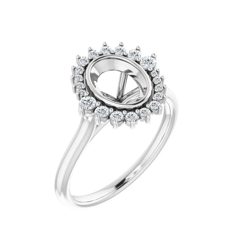 Stardust Bridal Halo Style Engagement Ring