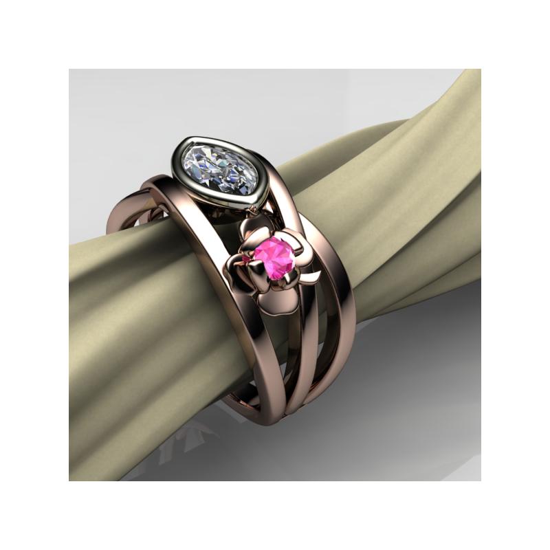 Stardust Custom Flower Ring