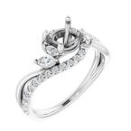 Stardust Bridal Semi-Set French-Set Engagement Ring