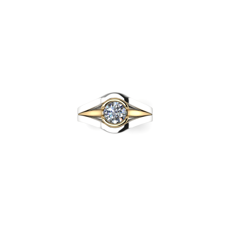 Stardust Custom Two Tone Engagement Ring
